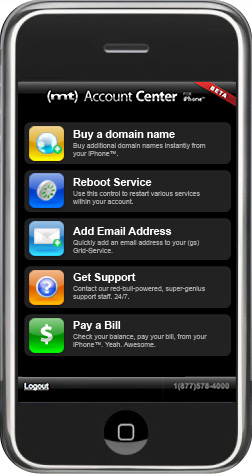AccountCenter for iPhone