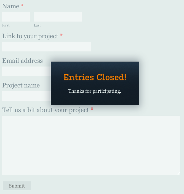 Entries Closed! Thanks for participating.